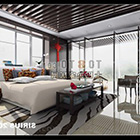 Heller Stil Schlafzimmer Interieur
