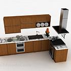 المطبخ L على شكل مجلس الوزراء