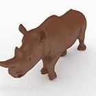 Ozdoba na biurko nosorożca