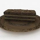 ブラウンチョコレートケーキデザート家具