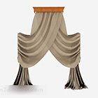 Brown Gauze Curtain