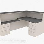 White Mdf Corner Office Desk