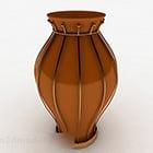 Wazon ceramiczny brązowy