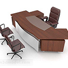 Brown Wood Atmospheric Desk