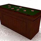 Brown Wooden Block Table