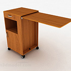 Brown Wooden Multi Functional Cabinet