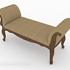 Brown Wooden Sofa Bench Furniture