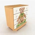 Meja Samping Tempat Tidur Rumah Kartun Teddy Bear