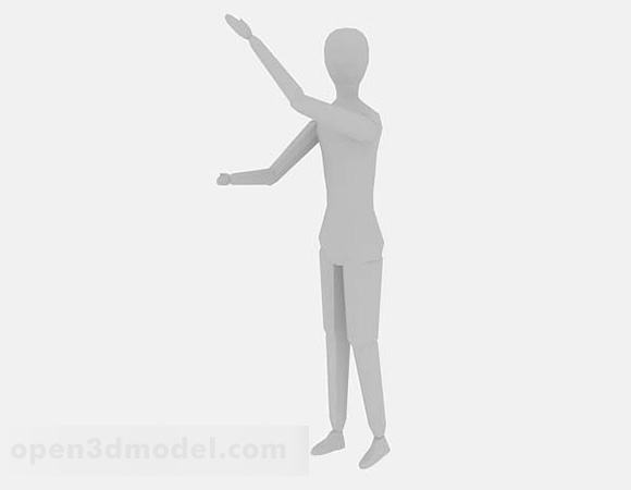 Character Full Body Lowpoly