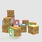 Drewniane klocki dla małych dzieci