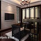 Chinesisches kleines Arbeitszimmer Interieur