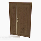 Chińskie rzeźbione drewniane drzwi