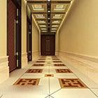 Kinesisk korridorgång interiör