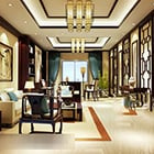 Chinese Living Room Painting Interior