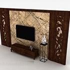 Chińska drewniana rzeźbiona szafka na telewizor