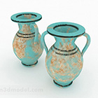 Chinese Blue Pattern Trumpet Vase