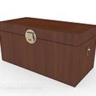 Pudełko na ubrania w stylu chińskim brązowy drewniany
