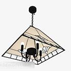 Żyrandol do salonu w kształcie chińskiego stożka