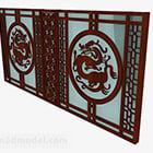 Hollow rzeźbione okno w stylu chińskim