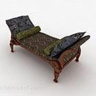 Kinesisk soffa för lyxig fotstol