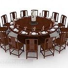 Kinesisk rund matbordstol Dekoruppsättning