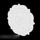 Kinesisk dekoration för vit gravering