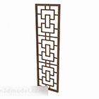 Kinesisk symmetrisk ihålig enkel dörr