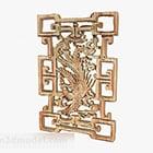 Kinesisk träsnitt dekoration