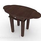 Kiinalainen puinen ruskea pöytä