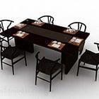 الطعام الصيني كرسي طاولة المواد الخشبية