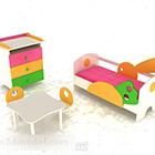 Bunte Kombination Kinderbett