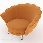 Meubles créatifs de chaise de sofa de coquille orange