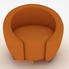 Canapé simple rond orange créatif