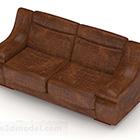 أريكة ذات مقعدين من البيت البني