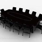 ダークウッドの会議用テーブルチェア