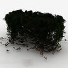 ダークグリーンの風景植物