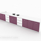 Armoire de maison linéaire violet foncé