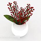 Ozdobny owalny wazon ceramiczny