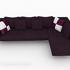 Deep Purple Multi-sits Sofa Furniture Design
