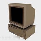 Computer desktop vintage con monitor