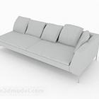 Älä edes yksinkertainen harmaa monikerroksinen sohva