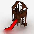 Double Wood Slide Playground