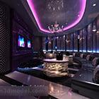 Ylellinen Karaoke-baarihuoneen sisustus