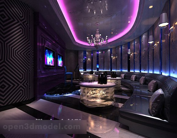 Luxury Karaoke Bar Room Interior