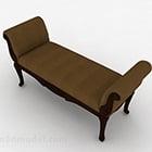 European Brown Sofa Bench Furniture