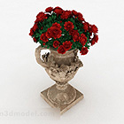 Vas Bunga Bunga Eropah Rose
