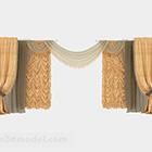 European Gorgeous Yellow Curtain