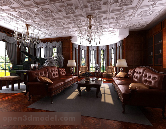 European Living Room Ceiling Grate Interior