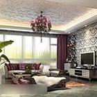 European Living Room Ceiling Pendant Lamp Interior