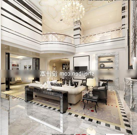 European Luxurious Living Room Design Interior